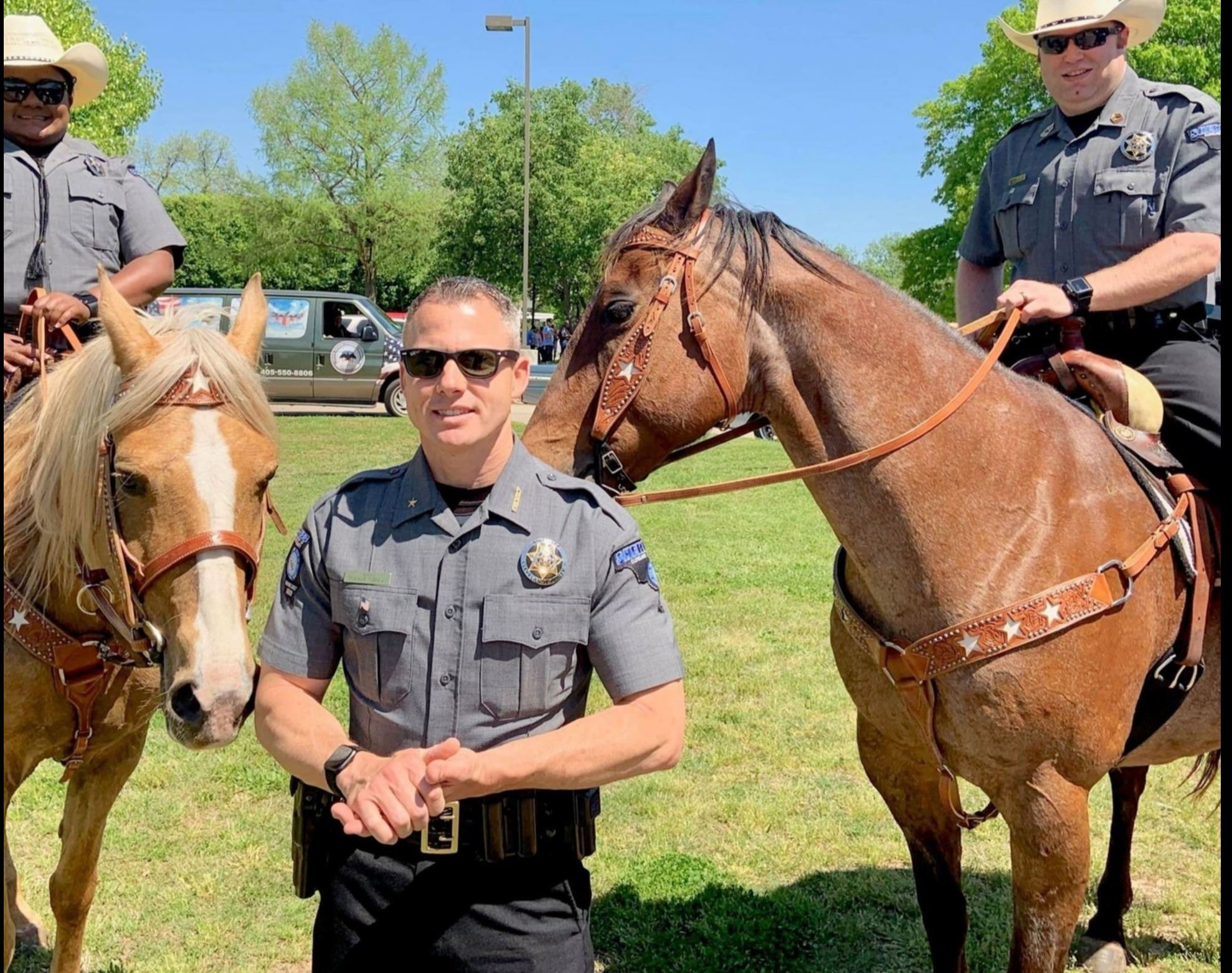 Sheriff and parade horses